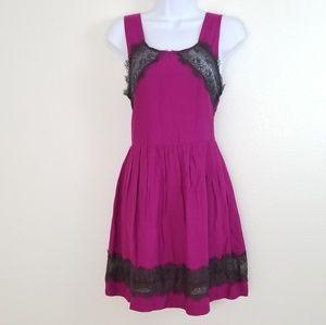 Free People Casual Purple Dress Boat Neckline